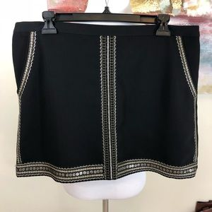 Madewell Embellished Sequin Lined Mini Skirt $110